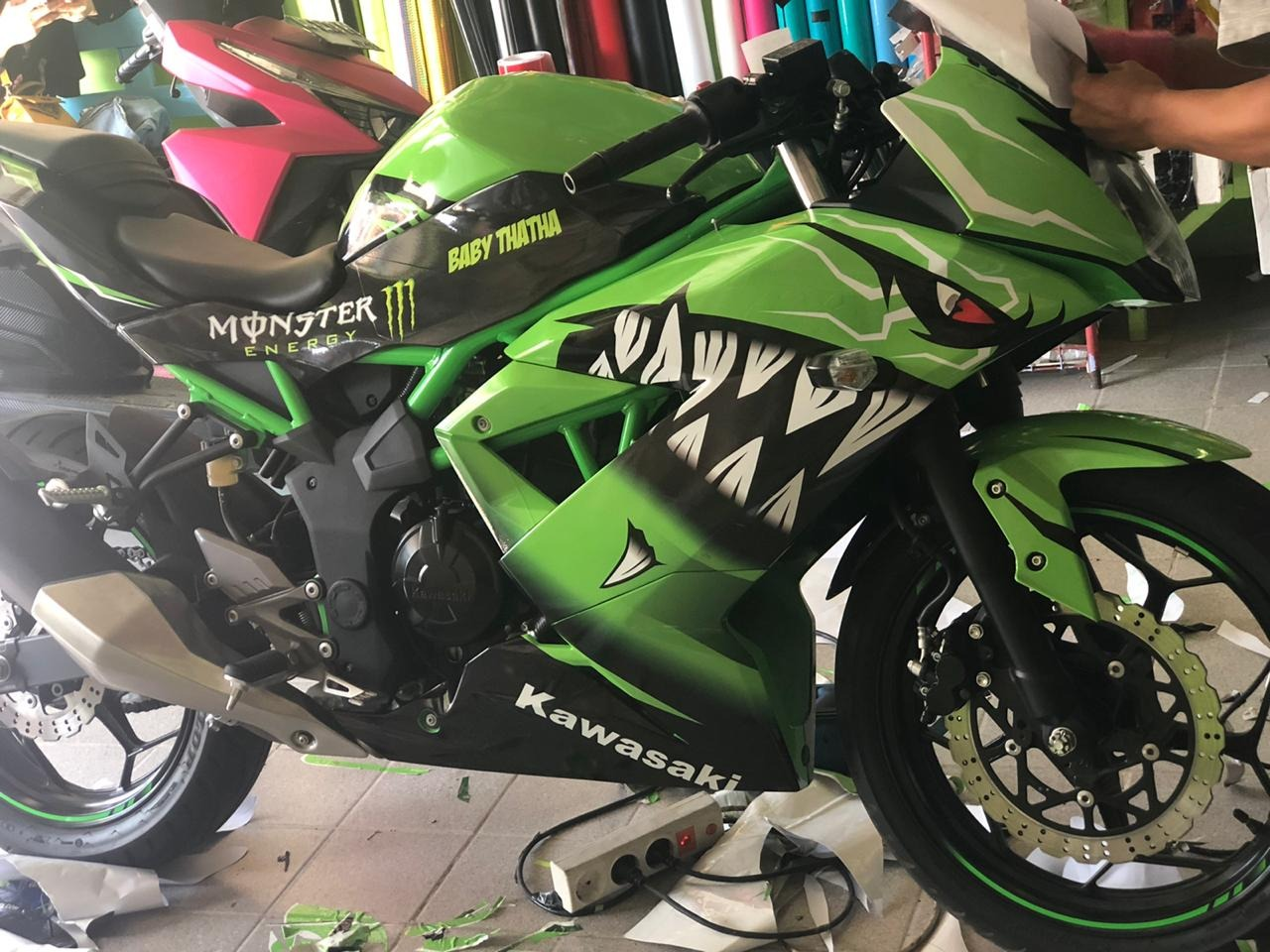 decal NINJA mono maxgraphica cutting sticker sidoarjo