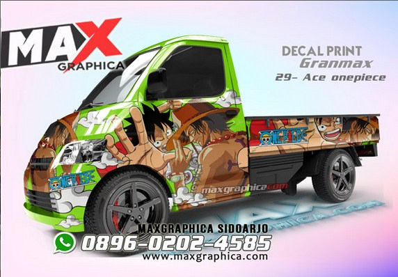 sticker grand max pickup maxgraphica cutting sticker sidoarjo